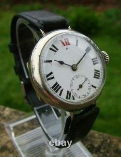 1910 Vintage Trench Swiss Watch Very Very RARE For Collectors