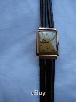 1939 Rare Vintage 14k Solid Gold Swiss Omega 17 Jewels Mens Wrist Watch