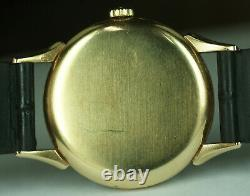 1944 Rare Vintage Tissot 18K Gold Cal. 27 Swiss Watch 33mm Sub Seconds