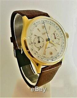 1960´s Vintage Rare EBERHARD Chronograph Extra Fort GOLD PL Swiss