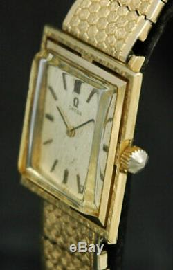 1962 OMEGA SOLID 14K GOLD Mens WATCH 17J 620 REF D6650 VTG Swiss Luxury RARE 60s