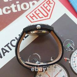 1970s Heuer Monza Rare Vintage TAG Racing Chrono Watch 150.501 Swiss Mens