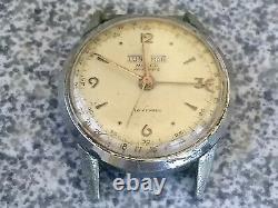 50s Rare Vintage MULCO Antimagnetic Triple Date Calendar Swiss Hand Wind 16J