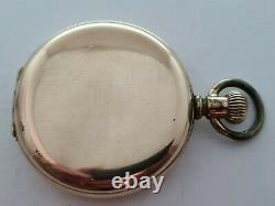 Antique 1905 Kingsonia Swiss Hunter Gold Plated Pocket Watch Working Rare