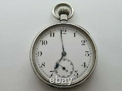Antique 1905 Swiss Made Solid Silver Pocket Watch Working Rare
