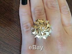 Antique Vintage Rare Solid Yellow Gold Watch Ring (Swiss Movement) Estate Piece