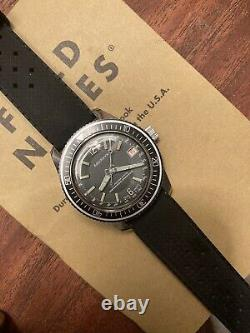 Aquabyn Skin diver swiss vintage watch tropic strap manual wind Retro & Rare