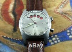 Aquastar Regate Yachting Rare Vintage Men's Automatic Watch 4000N Swiss 2896