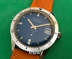 BREIL-Vintage Watch-manual mechanical-diver sub 30m-swiss made-anni'70-37mm-rare
