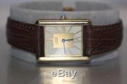 CARTIER 681006 Vermeil Tank Quartz Watch ARGENT 925 Silver Gold Plate Swiss Rare