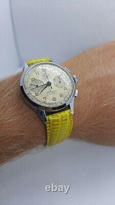 Cronografo Vintage Swiss Made-walker Extra-chronographe Suisse-rare-montre-n2