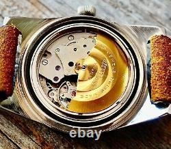 DIOR Vintage Watch NICOLET Skin Diver 1960's Automatic 665102 Swiss Black RARE