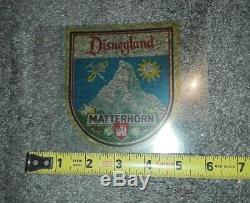 Disneyland Rare Matterhorn Bobsleds Vintage Swiss Bell & Ride Decal