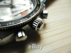 Diver Monvis Swiss Made 20 Atm Submariner Stell Rare Vintage Chronograph Valjoux
