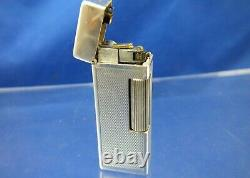 Dunhill Rollalite Sterling Silver Lighter Serviced Swiss Vintage Very RARE