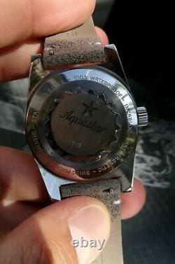 Duward Aquastar skindiver rare 200m vintage patina Swiss