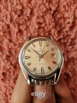 Eterna Matic Kontiki Vintage Gold Seal Swiss Made Automatic Very Rare Mens Watch