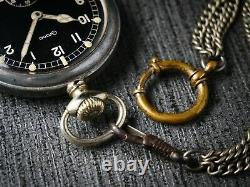 GRANA DH Vintage pocket watch RARE Military style Swiss made 1940s