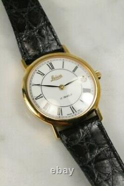 Genuine VTG LEICA 17 Jewels Manual Movement ENICAR Swiss Watch RARE Excellent
