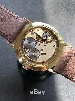 Gorgeous Dial Vintage Mathey Tissot Grand Prix Mens Watch Swiss Made 33,8mm Rare
