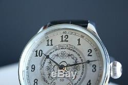 H. MOSER Vintage 1920`s NEW CASED Unique rare Men`s Swiss Wrist Watch