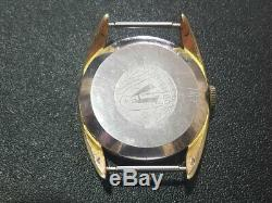 Harlo SWISS Moonphase Triple Date Wrist Watch Gold Plated Movement Vintage Rare