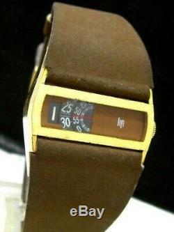 Lip Vintage Directime Jump Hour RARE Swiss Mechanical Baschmakoff Men Watch 1970
