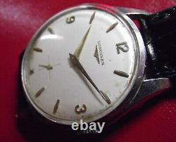 Longines Rare Fine Vintage'50 All S. Steel Cal. 30l Mechanical Swiss Made