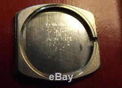 Longines Rare Fine Vintage'60 Square S. Steel Back Mechanical Swiss Made