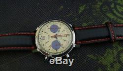 MESSIDOR CHRONOGRAPH PANDA DIAL VALJOUX 7734 VINTAGE 60's RARE 17J SWISS WATCH