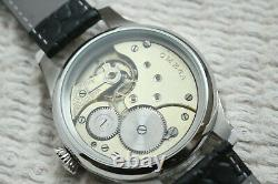 MILITARY Vintage 1930`s Swiss movement rare SKELETON New Cased Men`s Wristwatch