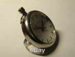Mondaine Taschenuhr, Reisewecker selten /Pocket watch, alarm, Swiss rare