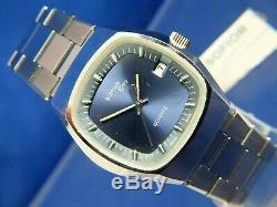 NOS Vintage Sofior Grey Electronic Quartz Watch 1970s Swiss Tissot Cal 2030 RARE