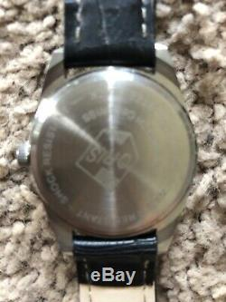 ORIS VINTAGE 17 JEWELS Shockproof SWISS Black & Silver Dial RARE NEVER WORN