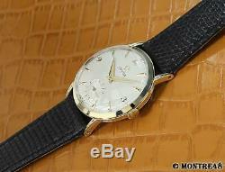 Omega Cal 266 Rare Men Swiss 14k Solid Gold Manual 36mm Vintage 1960 Watch S113