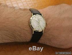Omega Cal 266 Rare Men Swiss 14k Solid Gold Manual 36mm Vintage 1960 Watch S113