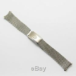 Original Favre-Leuba Mesh Diver Bracelet 18mm Rare HC Swiss Bathy Vintage