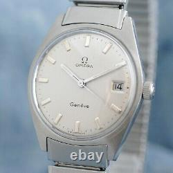 Original Swiss Omega Rare Fixo-flex Bracelet Vintage Manual Wind Ss Gents Watch