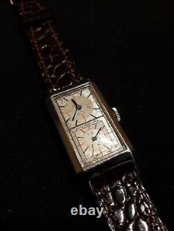 Original Vintage Duo Dial Doctor's Swiss Wrist Watch, Circa 1930, Rare