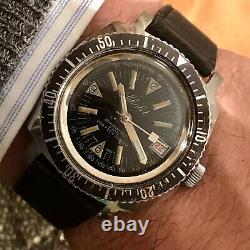 Orologio Watch Chalet 200 Feet Sub Diver Vintage Rare Swiss Made Seawatch