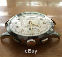 Oversized Vintage Landeron 48 Chronograph Swiss Wertex in Rare Orig. Condition