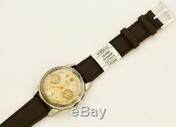 RARE 1930's DOXA SA stainless steel Swiss made chronograph watch Cal Landeron 48