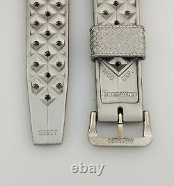RARE 19mm VINTAGE TROPIC GREY NOS DIVERS WATCH STRAP BAND CURVED 1960s SWISS