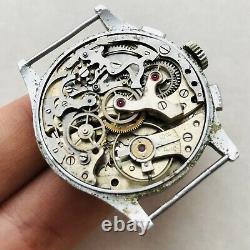 RARE Hy Moser & Cie (H. Henry Moser) CHRONOGRAPH 30s Angelus VTG Watch Swiss