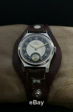 RARE! OMEGA WWII 40's MILITARY cal. 26.5 SOB T2 VINTAGE RARE 15J SWISS WATCH