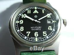 RARE SUPERB Vintage Men's Military G10 Swiss Ebauche Quartz Watch