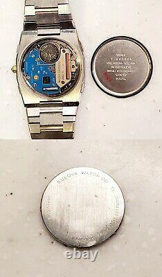 RARE, UNIQUE Men Vintage 1982 SWISS Watch BULOVA 83381. C-802037. Logo Millenia