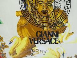RARE VINTAGE GIANNI VERSACE ATELIER VERSACE PILLOW SWISS VERIM SA TAG 16x16