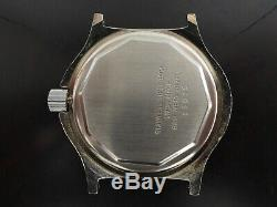 RARE VINTAGE NOS BULER JUMP HOUR SWISS WATCH OVAL SHAPE 42mm NEW OLD STOCK