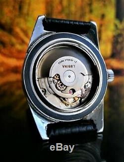 RARE VINTAGE SWISS WATCH LUSINA GENEVE AUTO DIVER CAL. 2452 50ATM CIRCA 1950´s